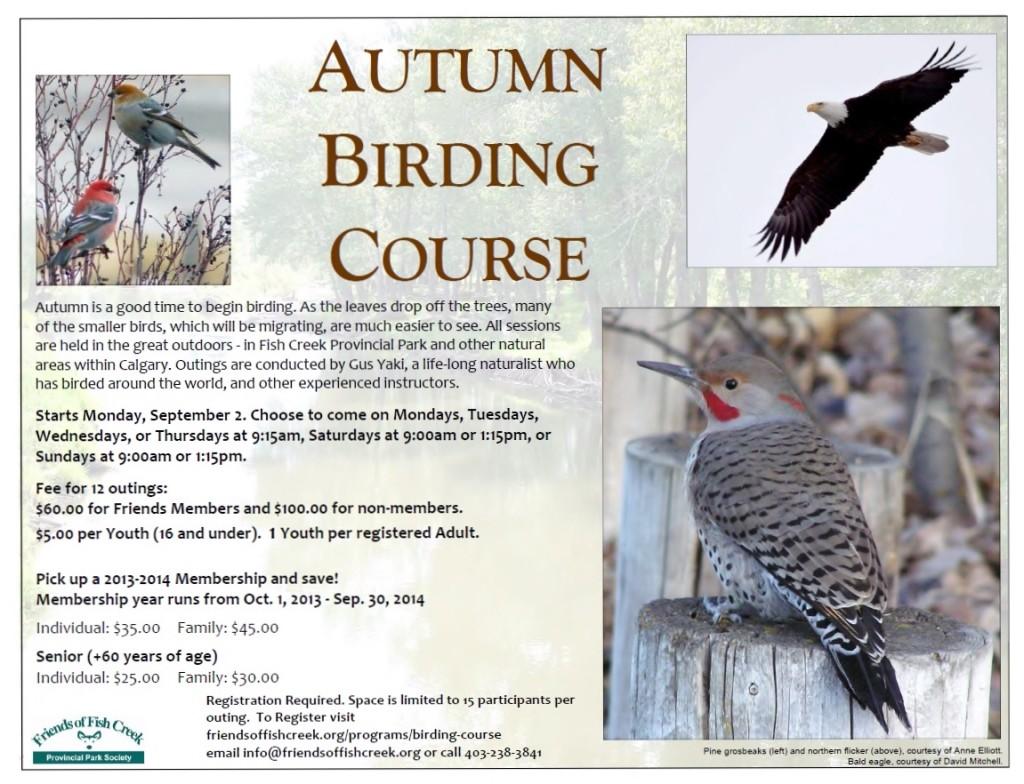 Fall 2013 Birding Course Poster (1151x882)
