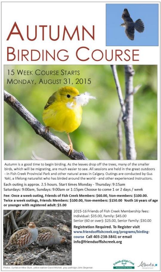 Fall birding course 2015