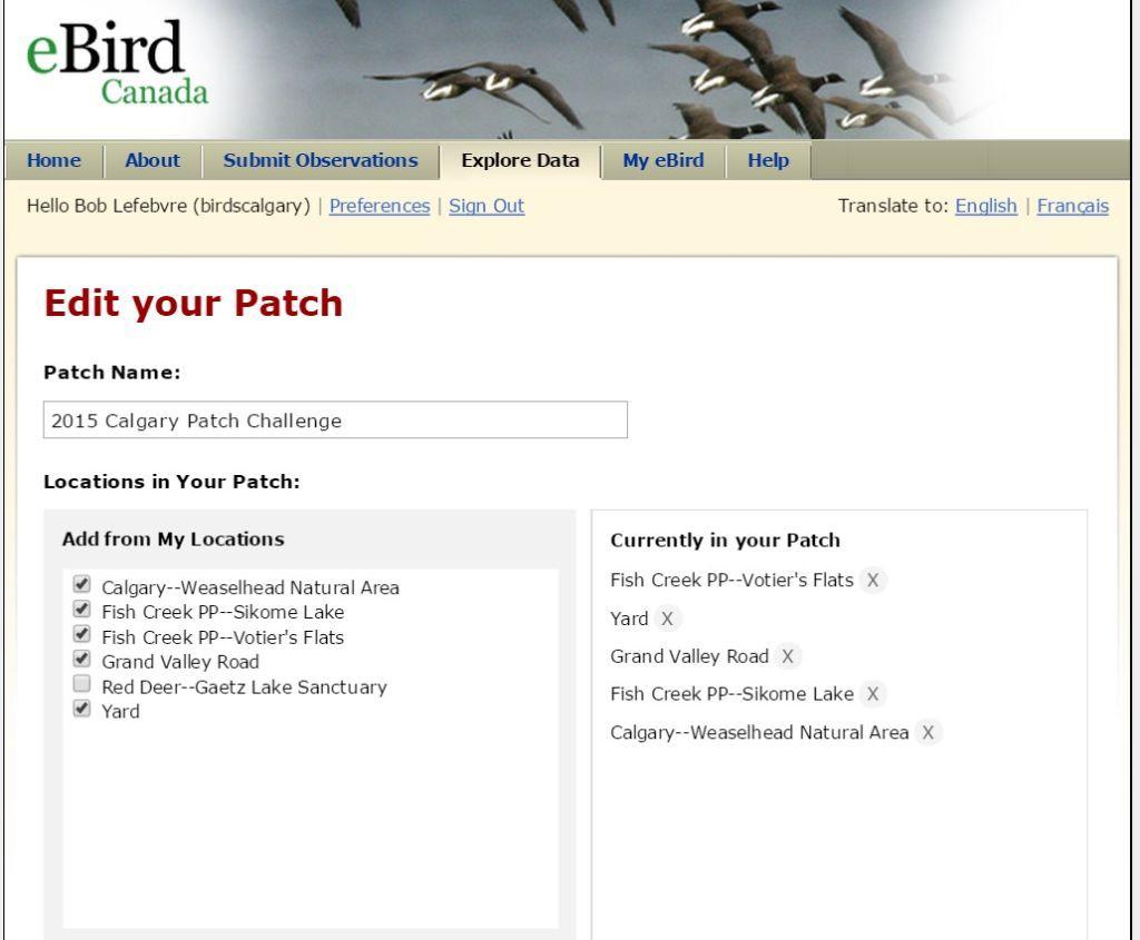 Edit Patch List 9